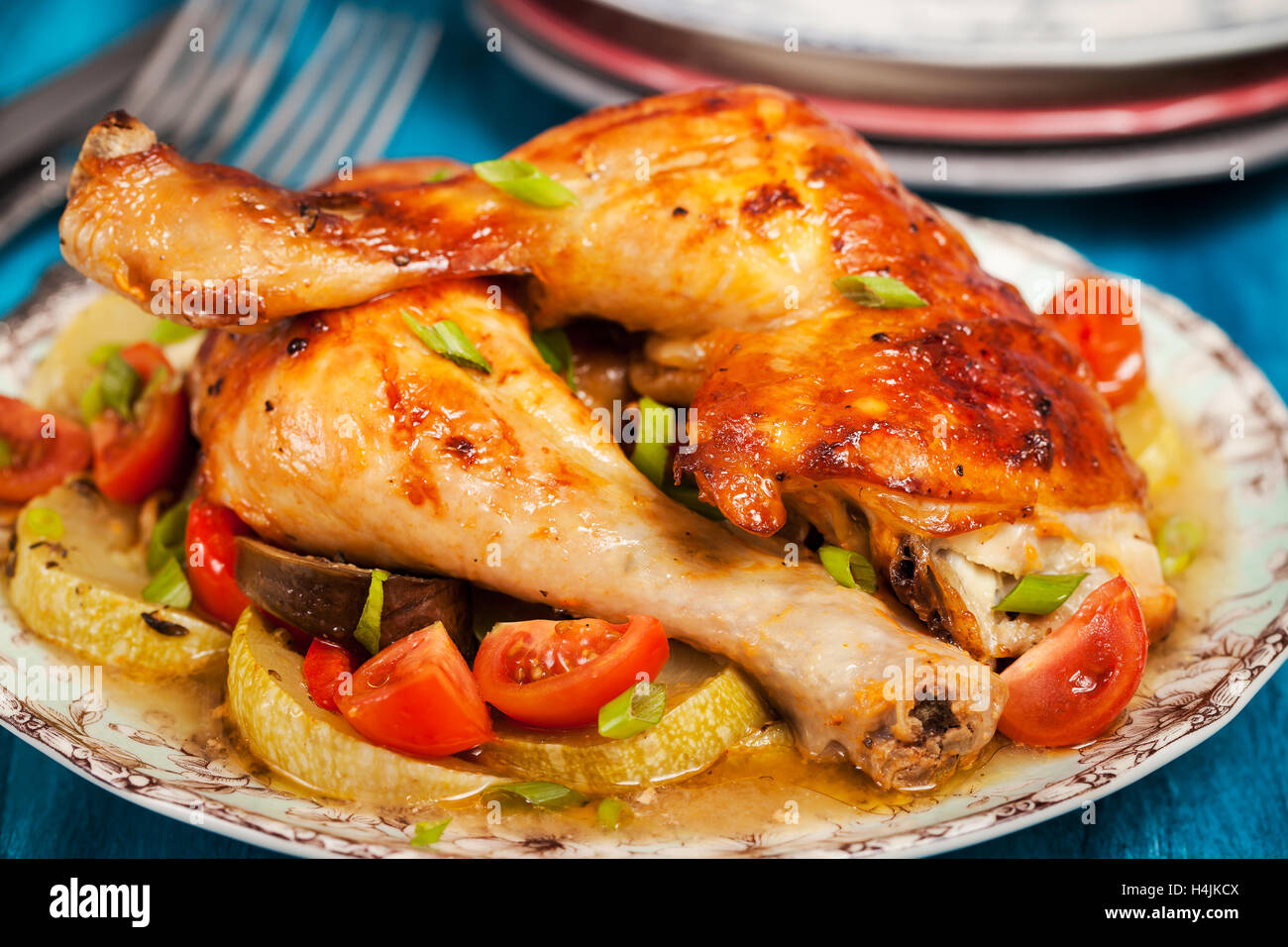 Thai Chicken Legs with Vegetables photo
