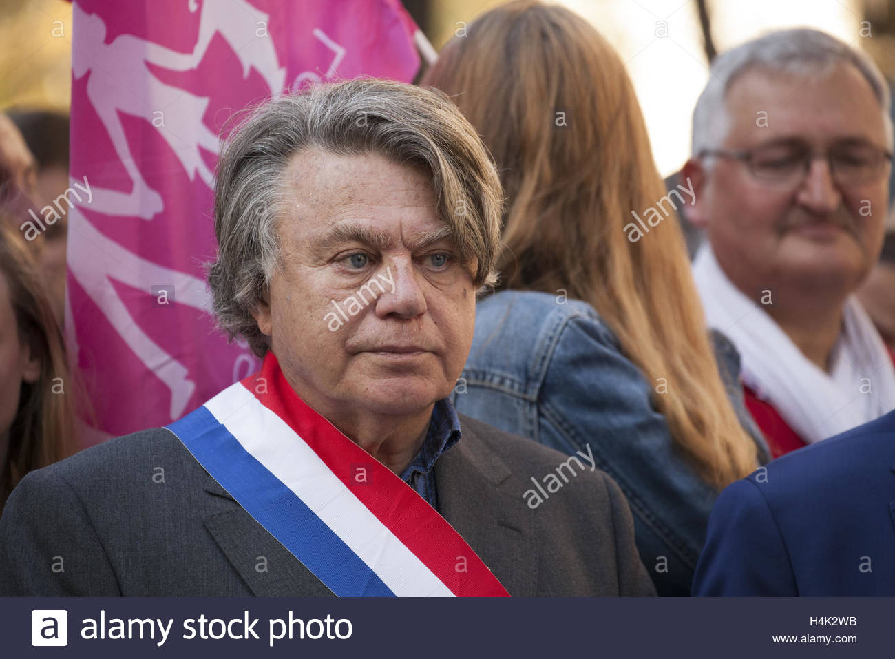 Paris, France. 16th Oct, 2016. Front national MP Gilbert Collard takes part in a demonstration organised by the - Stock Image