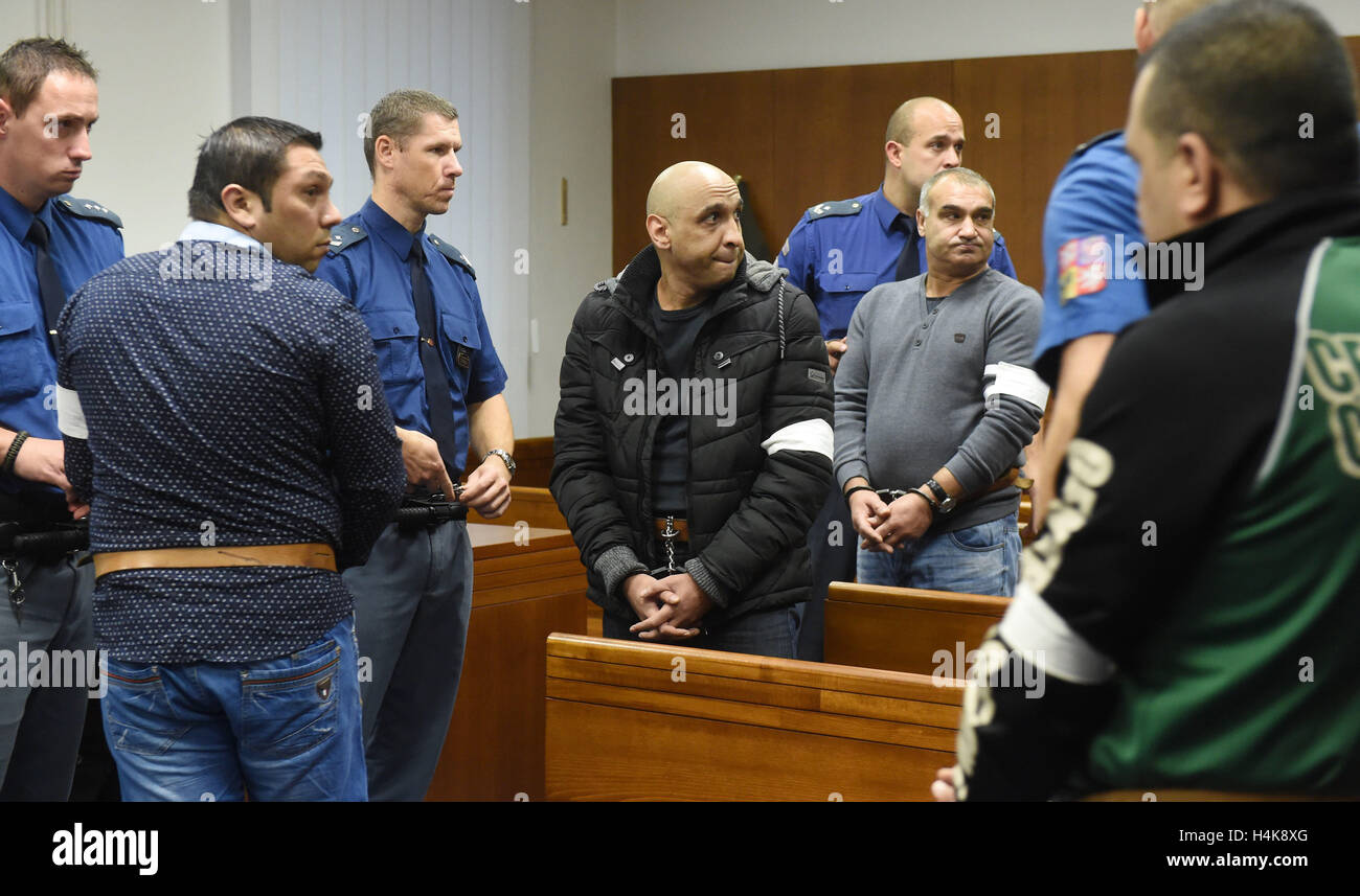 Olomouc High Court deals with appeal of a Bulgarian gang whose members were sent to prison to 12 years by Regional - Stock Image