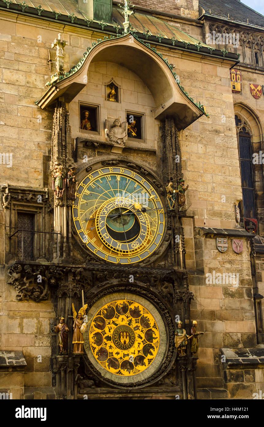 Prague Astronomical Clock - Stock Image
