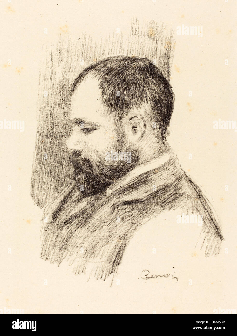 Auguste Renoir, Ambroise Vollard, French, 1841 - 1919, 1904, lithograph - Stock Image