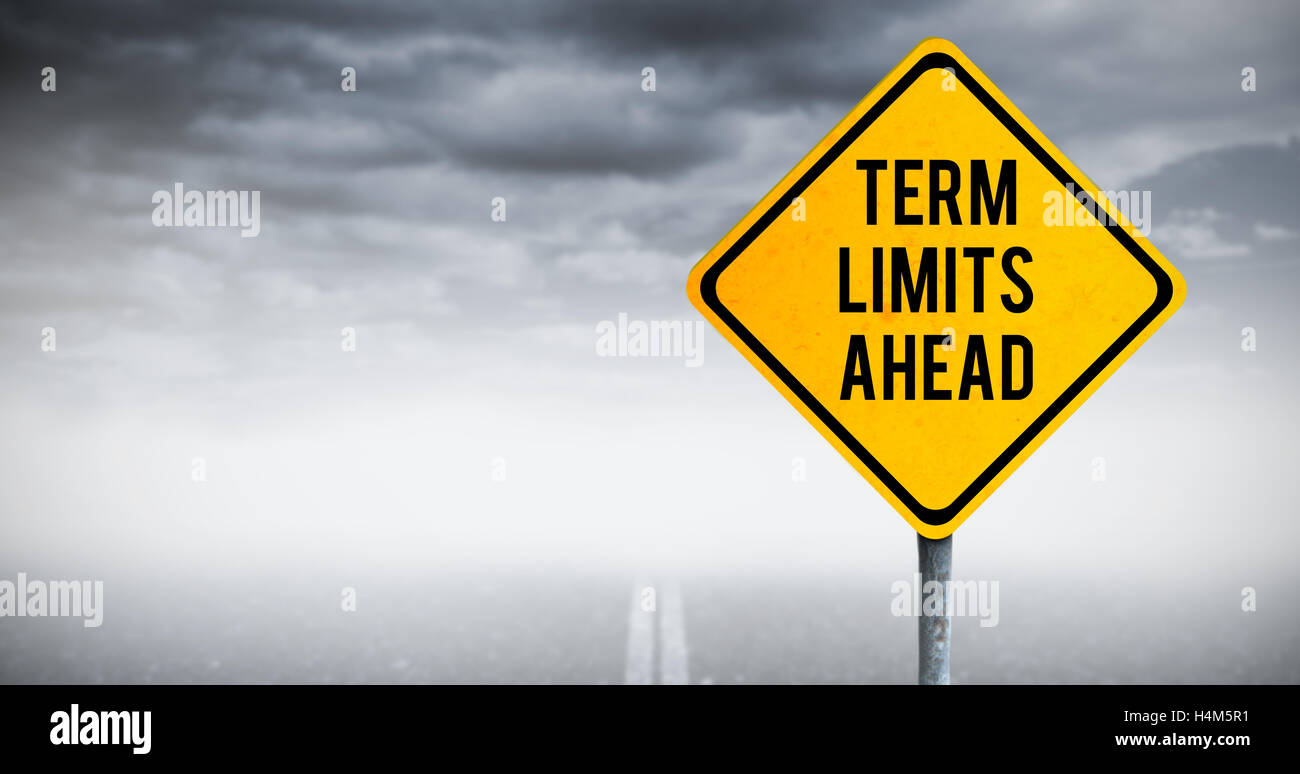 Composite image of term limits ahead - Stock Image