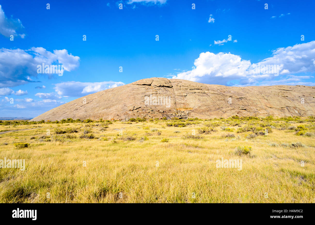 Independence Rock State Historic Site - Stock Image