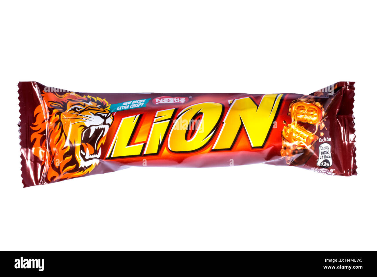 LONDON, UK - OCTOBER 13TH 2016: An unopened Lion chocolate bar manufactured by Nestle. - Stock Image