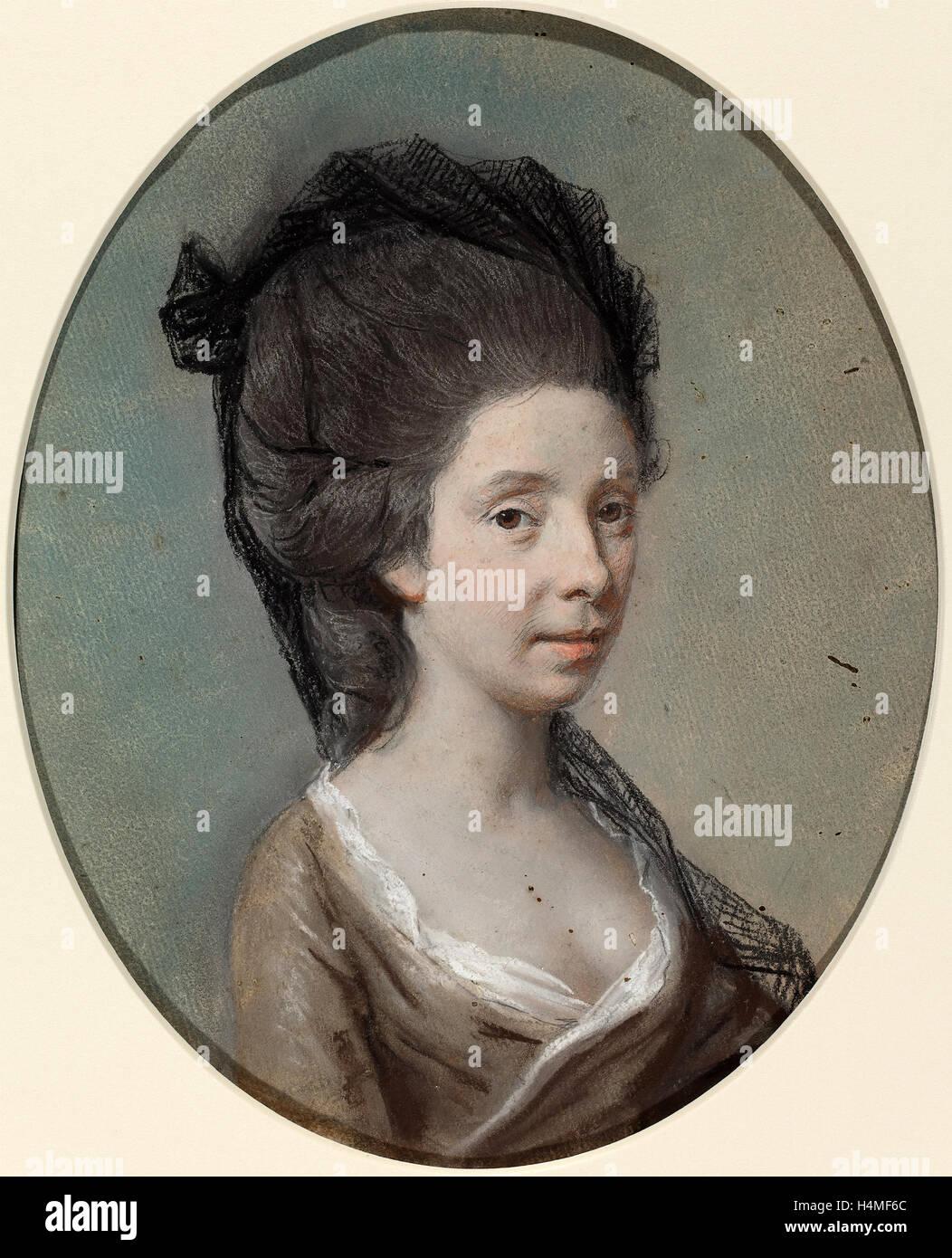 Hugh Douglas Hamilton (Irish, c. 1739 - 1808), Mary Fox, c. 1770, pastel on laid paper - Stock Image