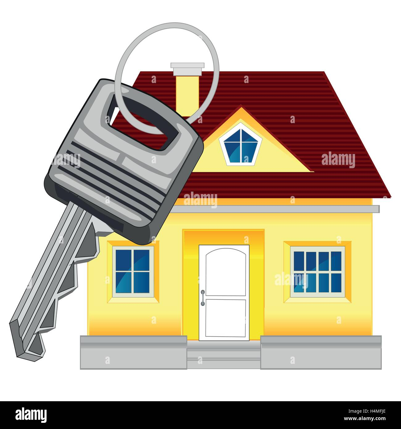 House and key - Stock Vector