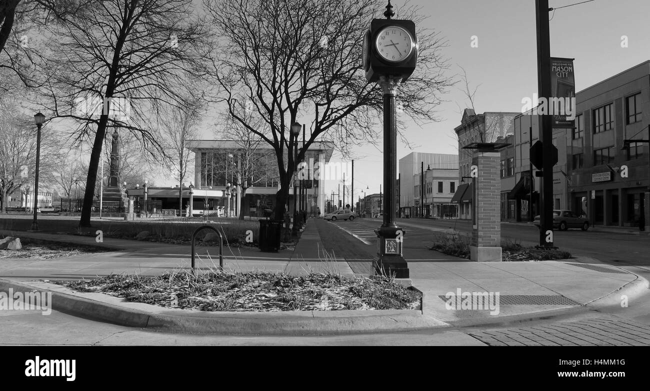 The Town Square Clock - Stock Image