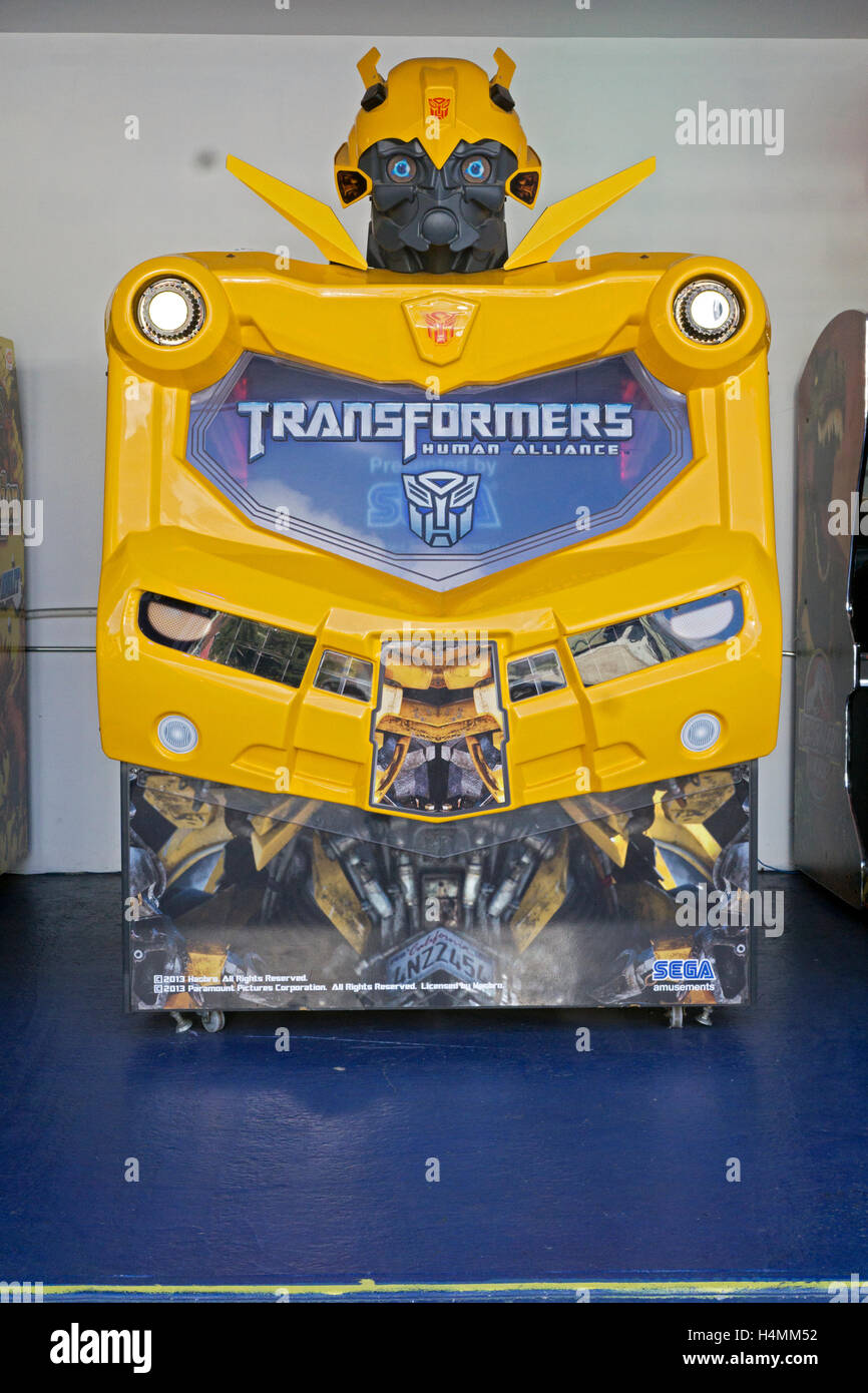 The TRANSFORMERS HUMAN ALLIANCE arcade game by Sega at Luna Park in Coney Island Brooklyn, New York - Stock Image