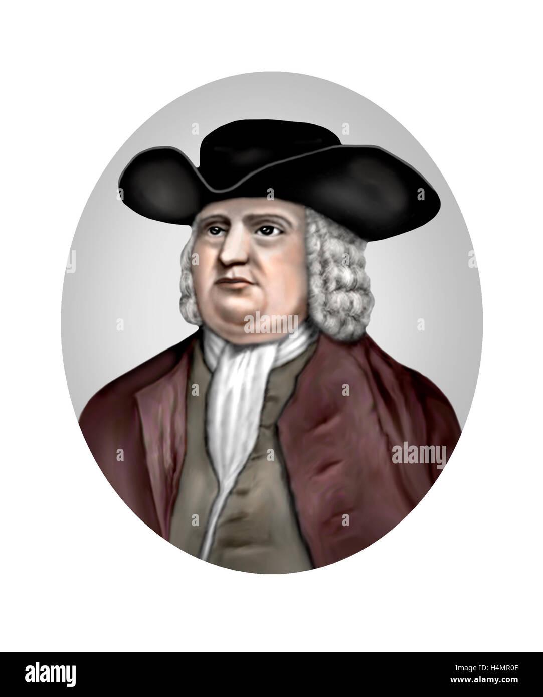 William Penn, 1644-1718, Quaker, Reformer - Stock Image