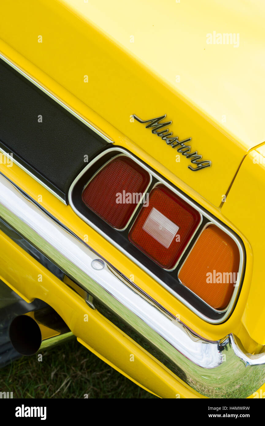 1971 Ford Mustang rear. Classic American car. Abstract - Stock Image
