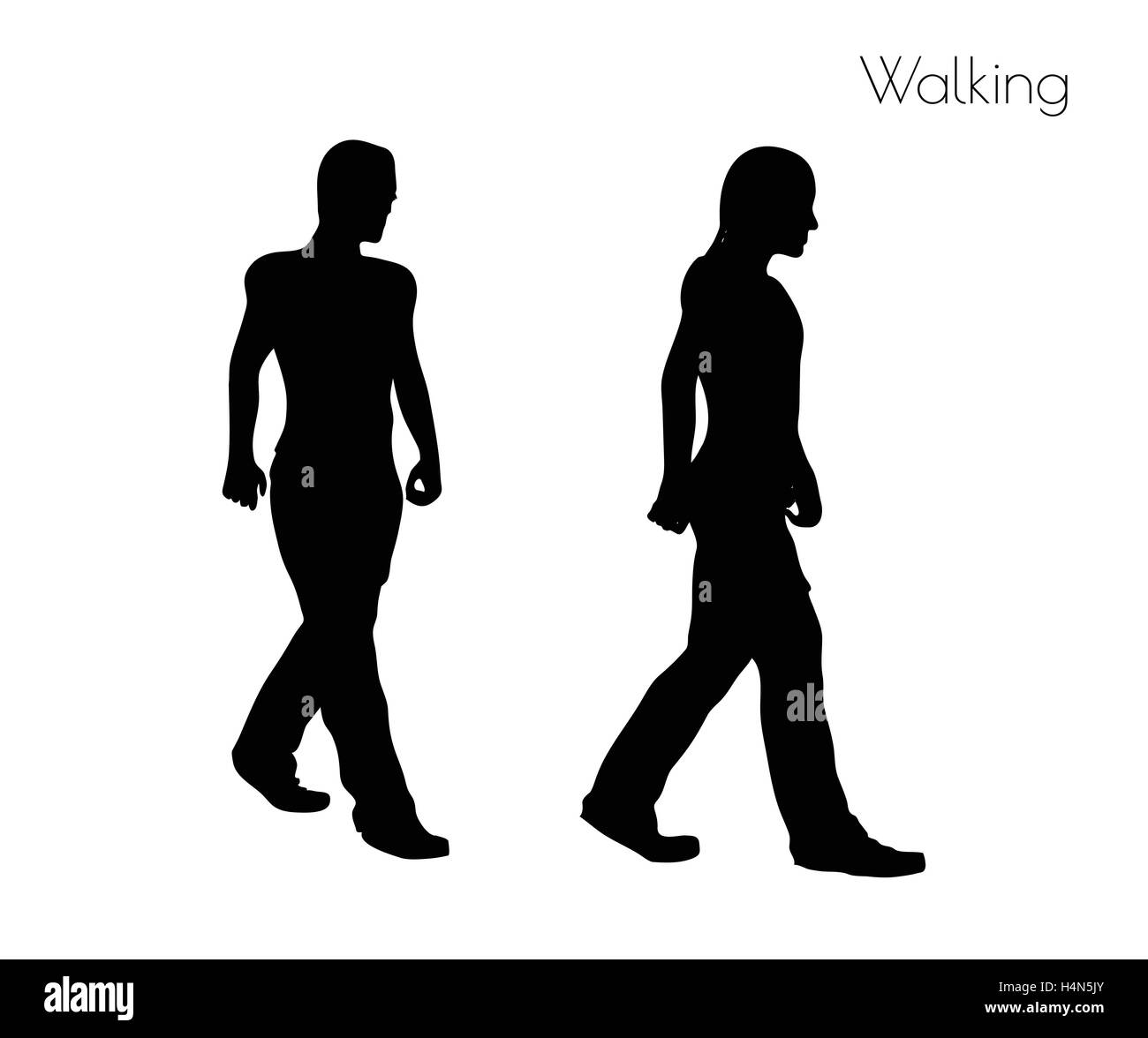EPS 10 vector illustration of a man in Walking  pose on white background Stock Vector