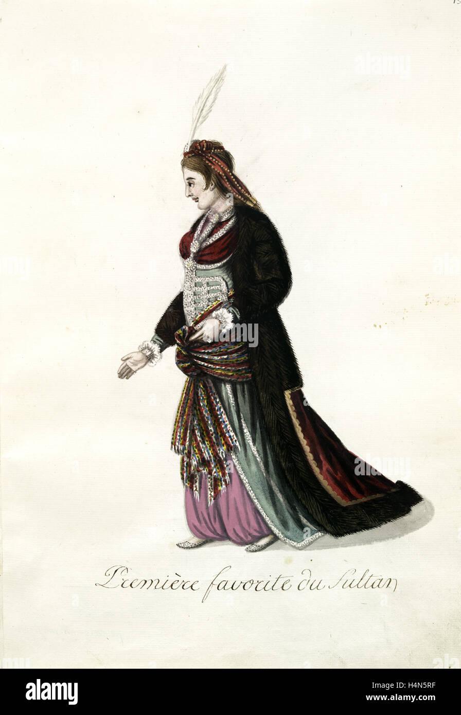 Première favorite du sultan. [73], Mahmud II, Sultan of the Turks, 1784-1839, (Patron) - Stock Image