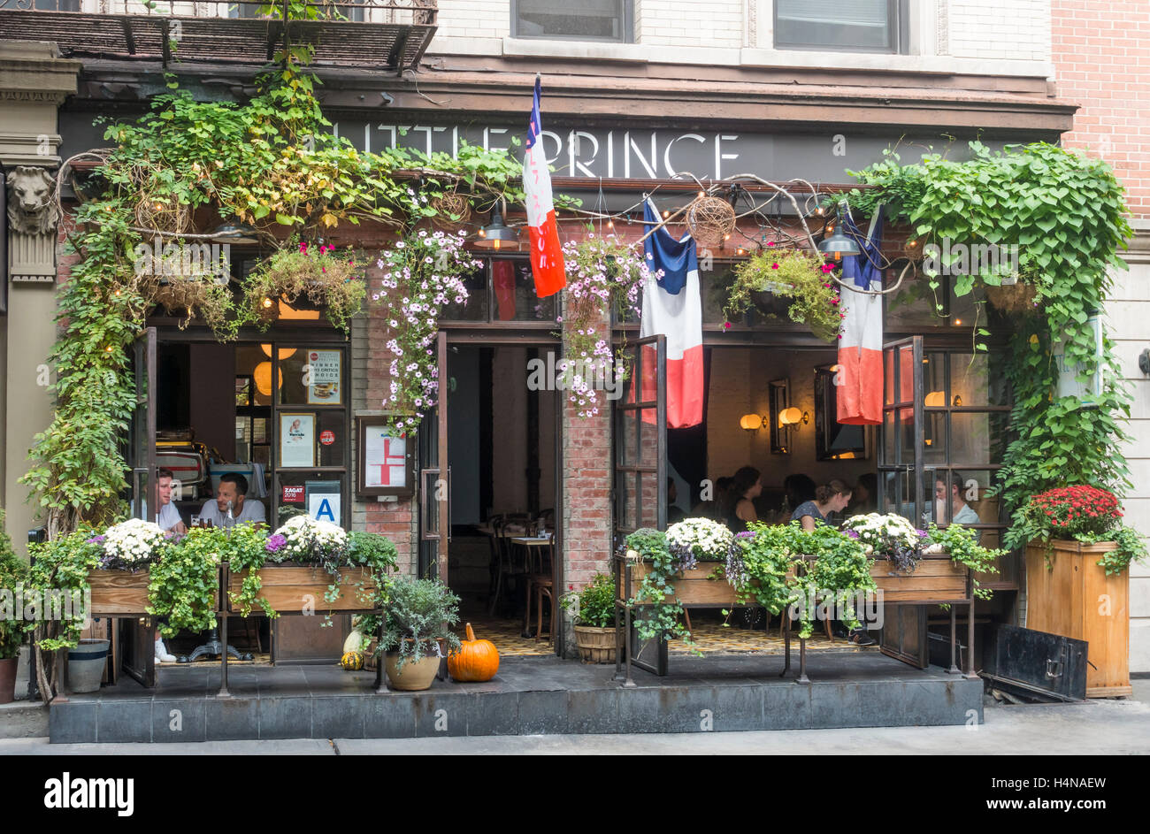 Little Prince Bistro In Soho New York City A Small French