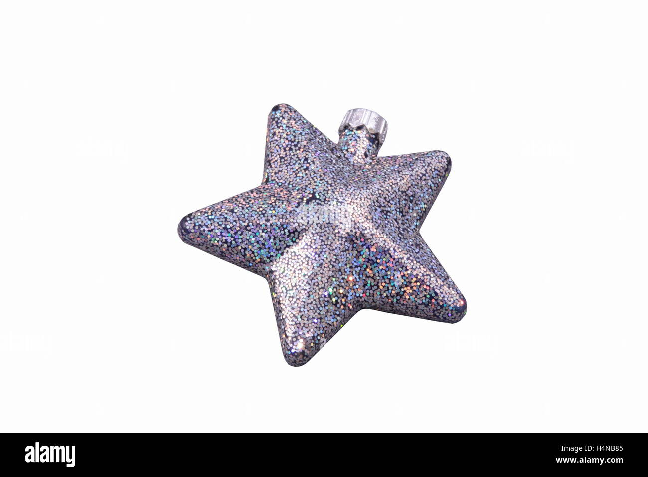 Christmas star isolated over a white background Stock Photo