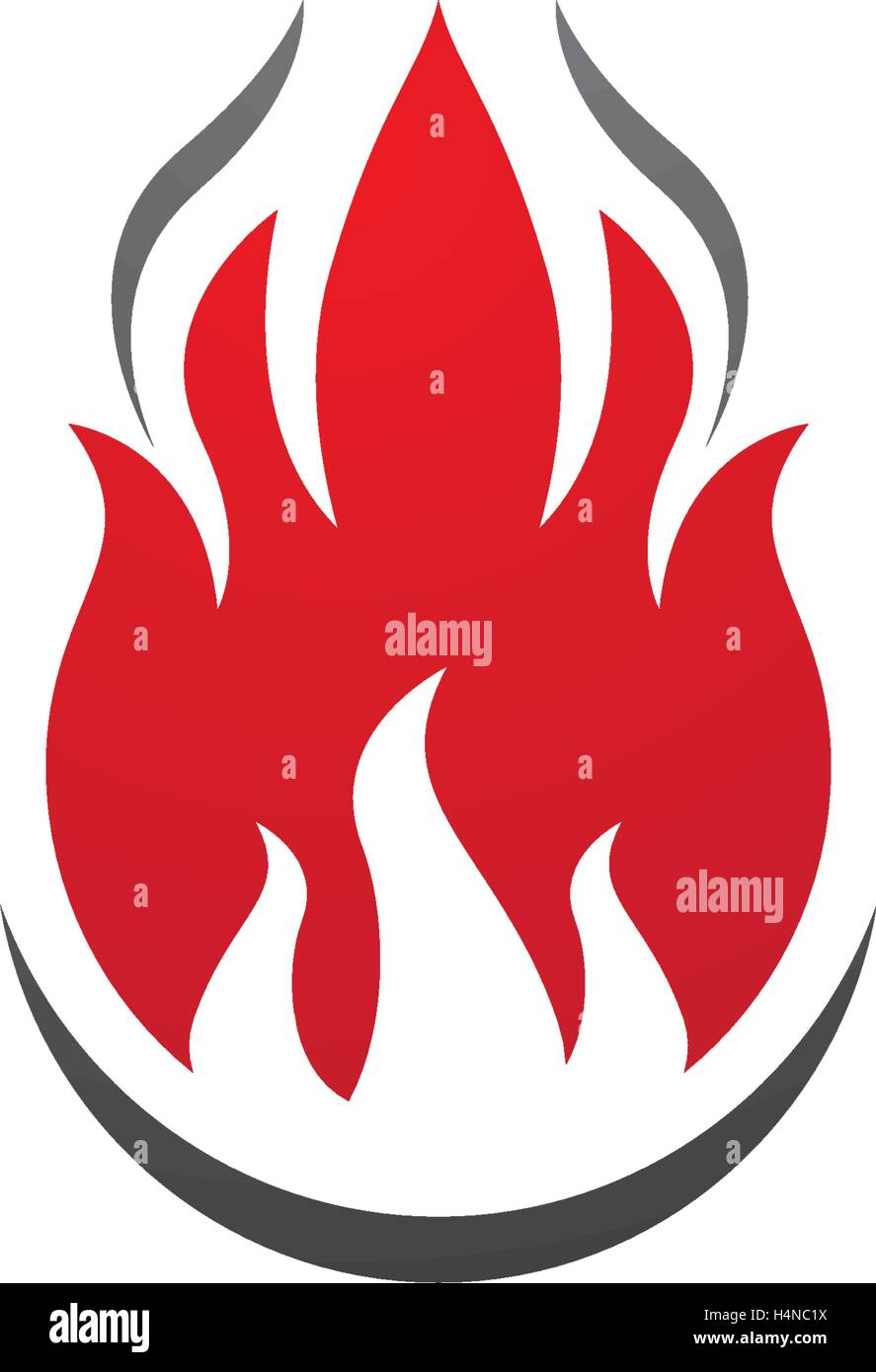 fire flame logo template vector icon oil gas and energy logo