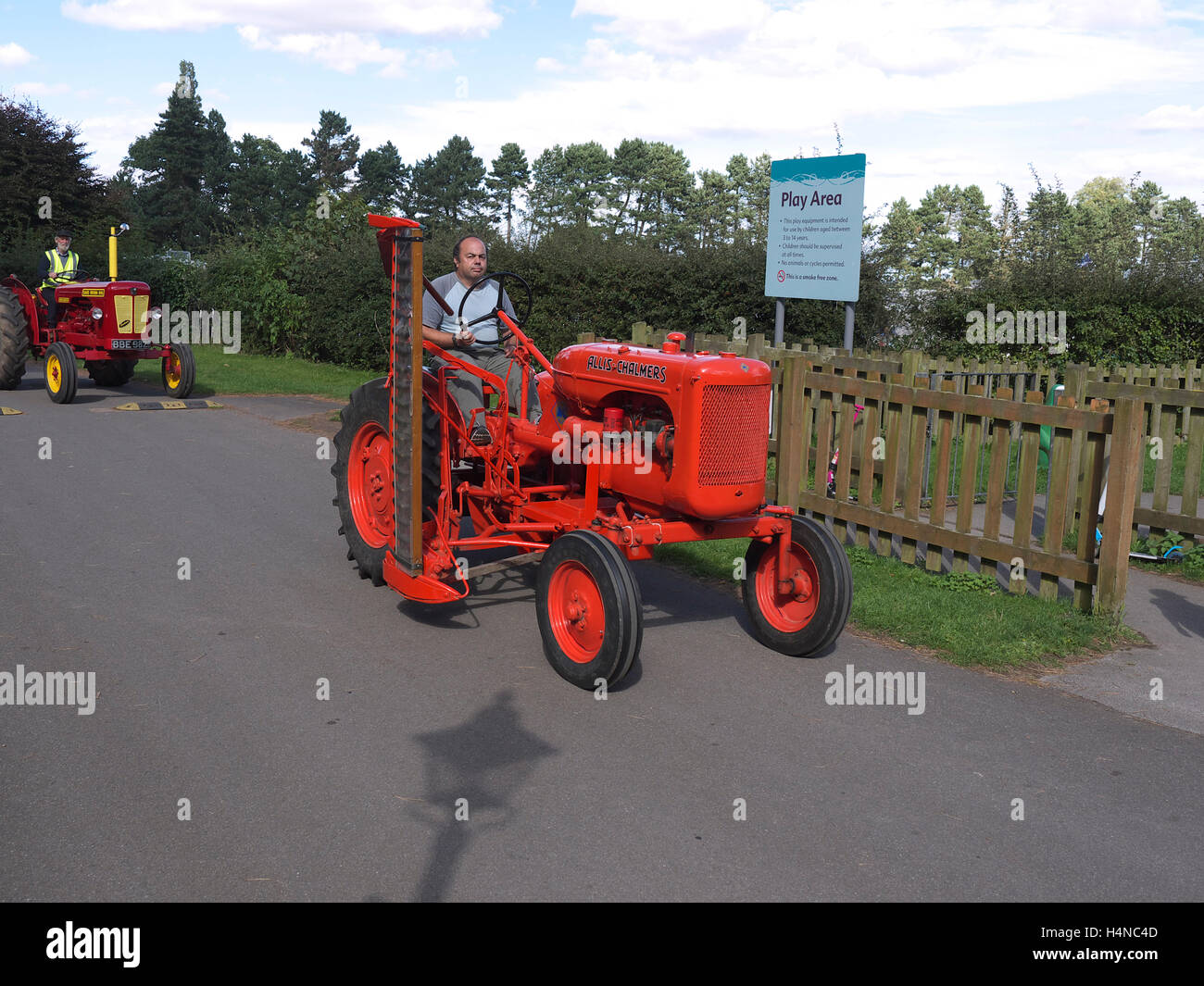 Allis Chalmers Tractor On A Road Run At Normanby Hall Scunthorpe Stock Image