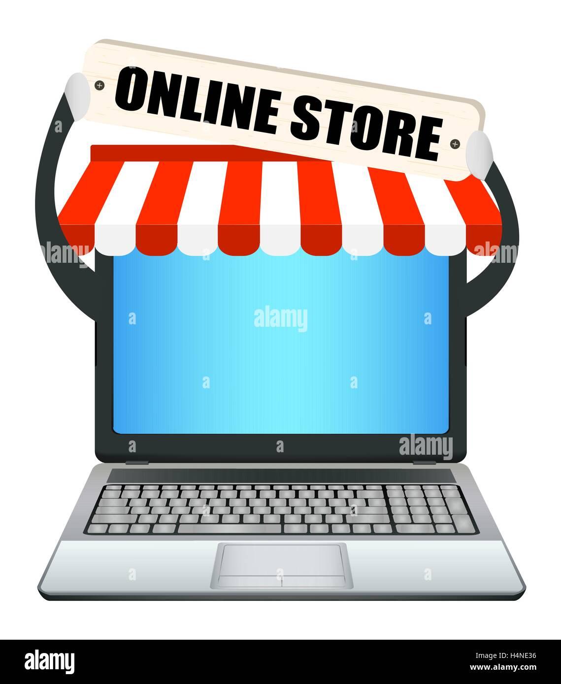 laptop with online store banner stock vector art illustration rh alamy com Blackboard Clip Art Transparent Blackboard Clip Art Transparent