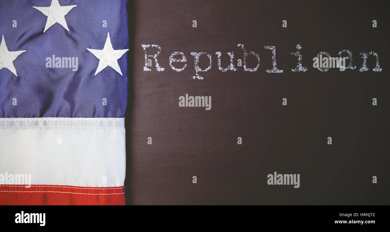 Composite image of republican - Stock Image