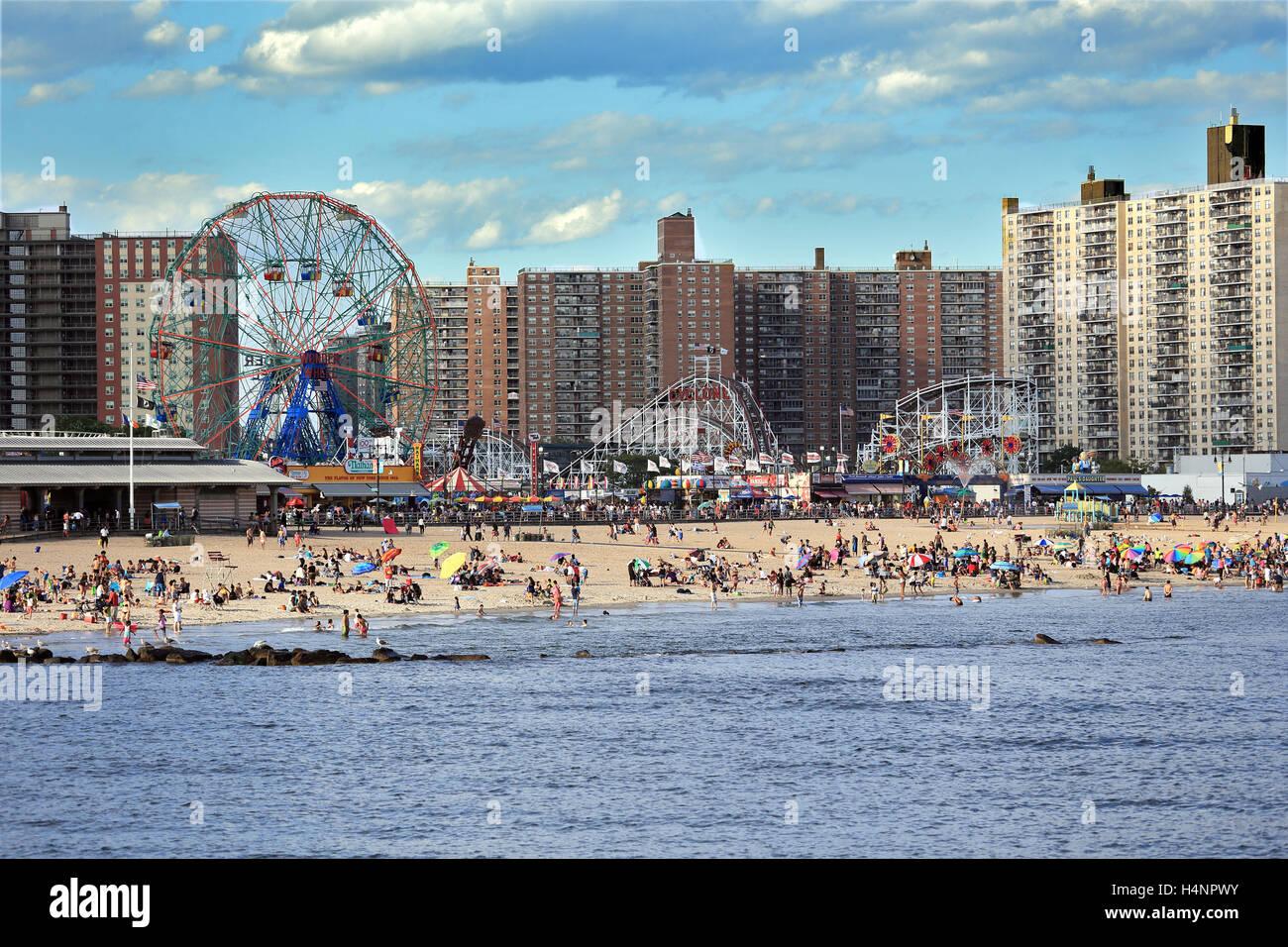Coney Island Brooklyn New York City - Stock Image