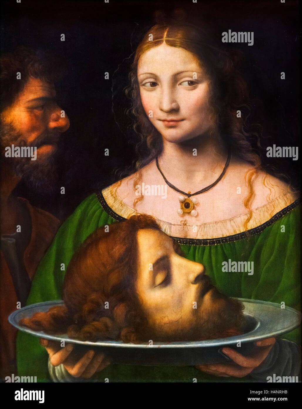 Salome with the Head of John the Baptist by Bernardo Luini (c.1480-1532), c.1525-1530 - Stock Image