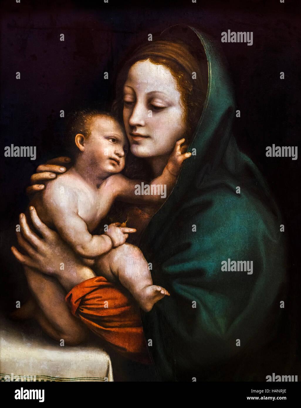 Madonna and Child by Bernardo Luini (c.1480-1532), c.1510 - Stock Image