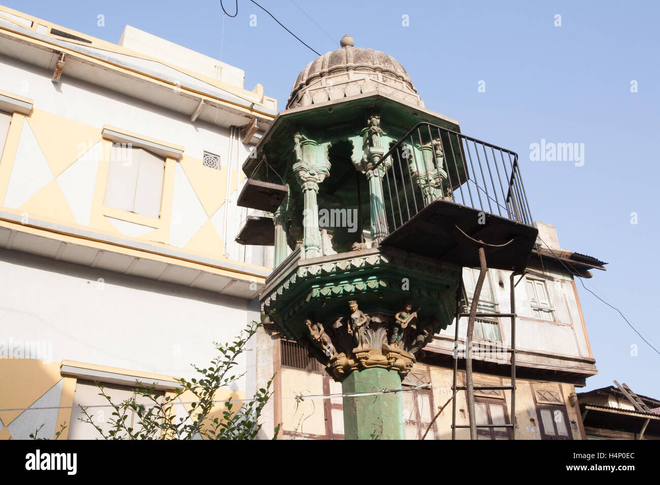 Architecture within old walled area of Ahmedabad city,Gujurat state,India South Asia. - Stock Image