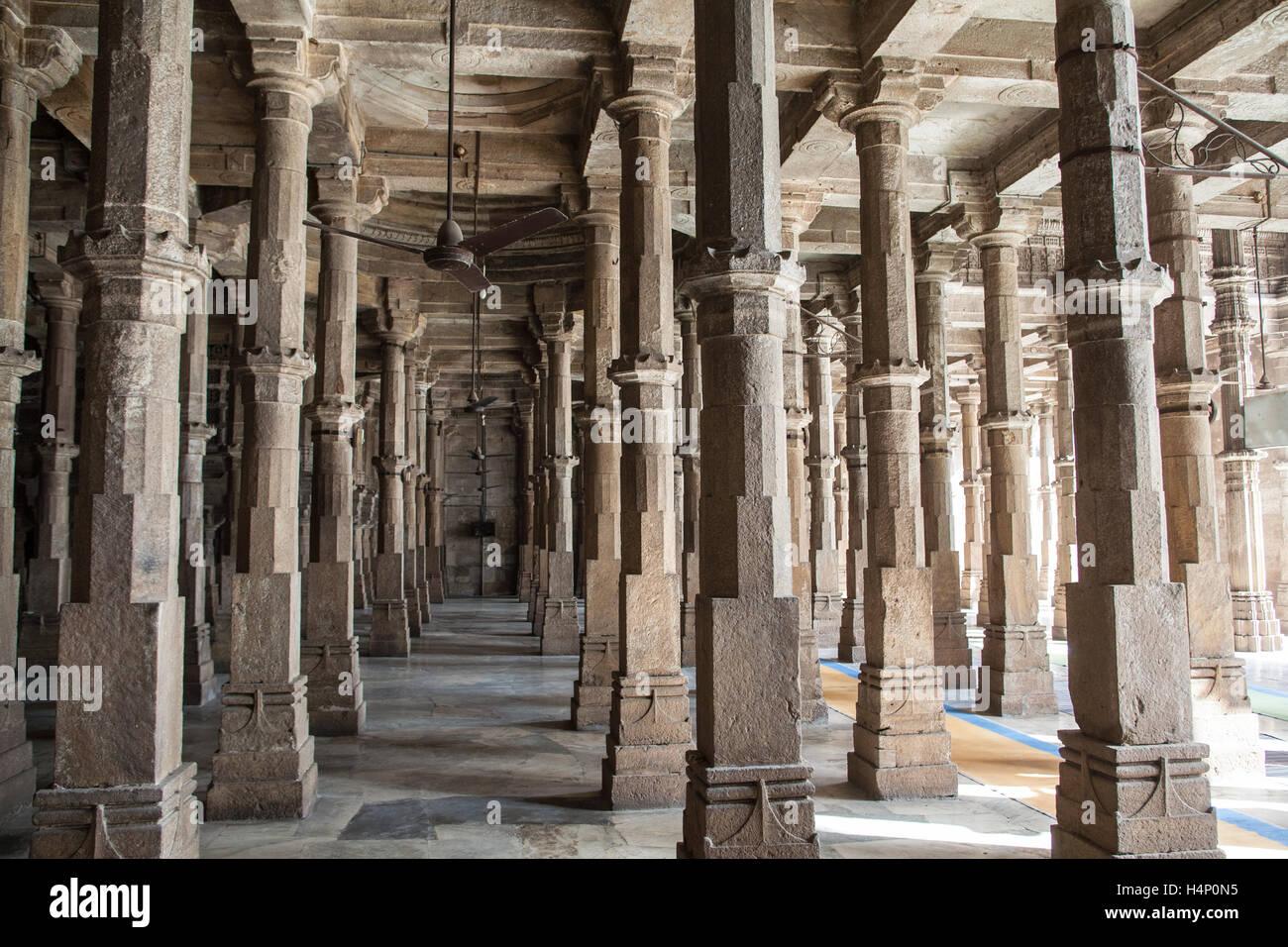 Jumma,Juma Masjid mosque,biggest and ancient building in Ahmedabad city,Gujurat,India,Asia. Stock Photo