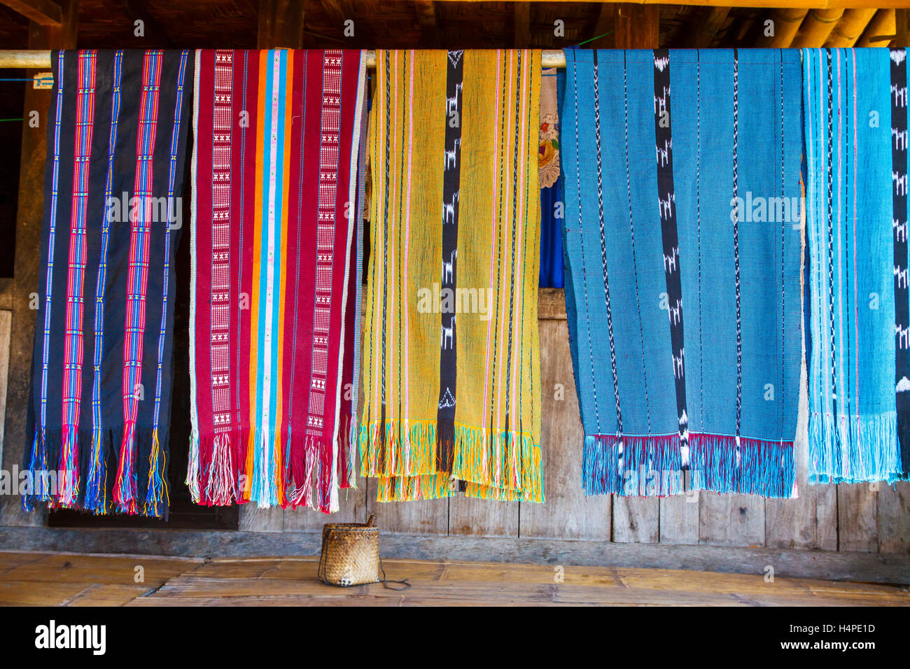 Pieces of cloths. - Stock Image