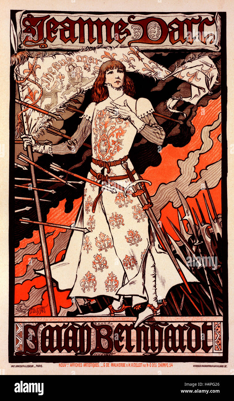 Style De La Renaissance poster for le théâtre de la renaissance. joan of arc, with