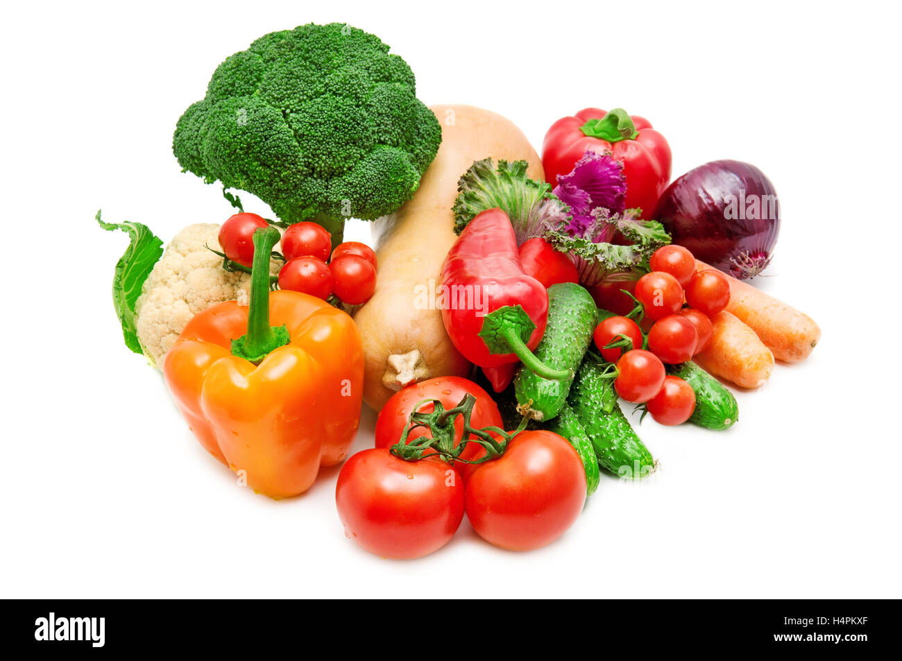 vegetable isolated on a white background - Stock Image