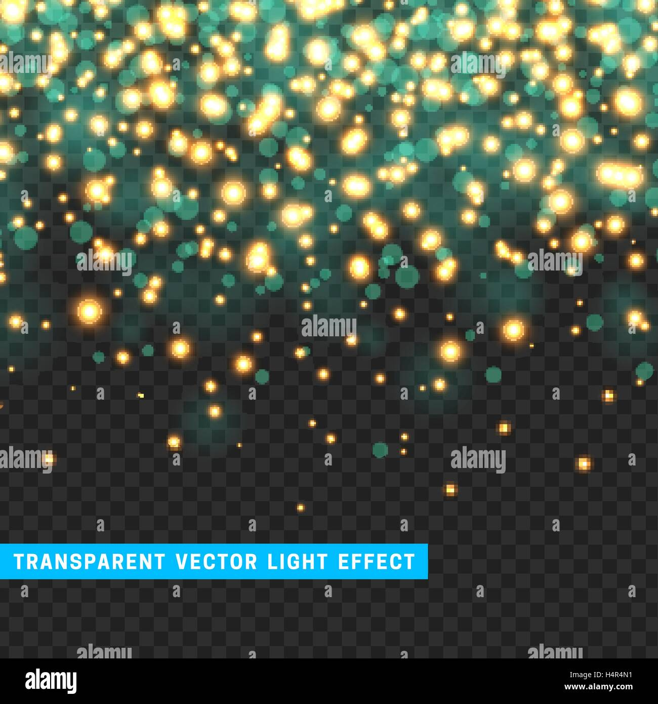 Vector with transparency light effect sparklers. - Stock Vector