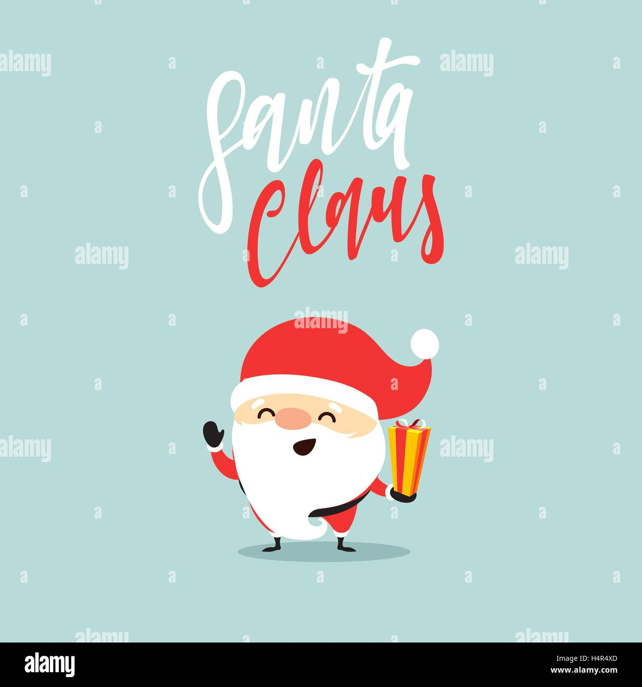 Santa Claus collection of Christmas. - Stock Image
