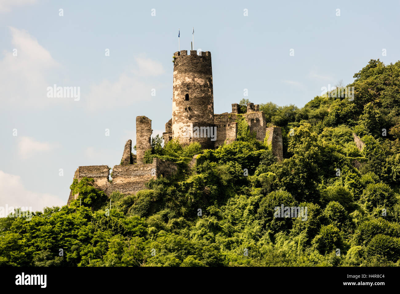 Fürstenberg Castle, Fairytale castle,  Rhine Gorge, Germany, Europe - Stock Image