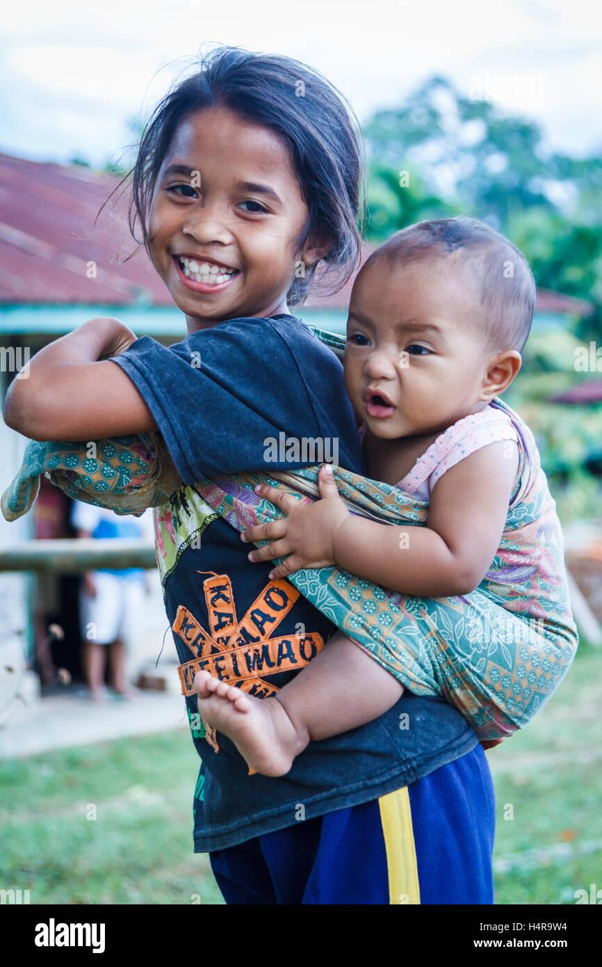 Children. Flores island.  Indonesia, Asia. Stock Photo