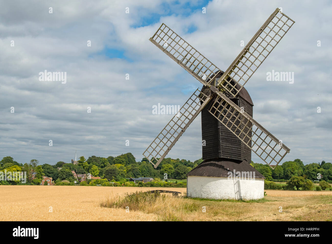 Pitstone Windmill, Ivinghoe, Hertfordshire, England - Stock Image