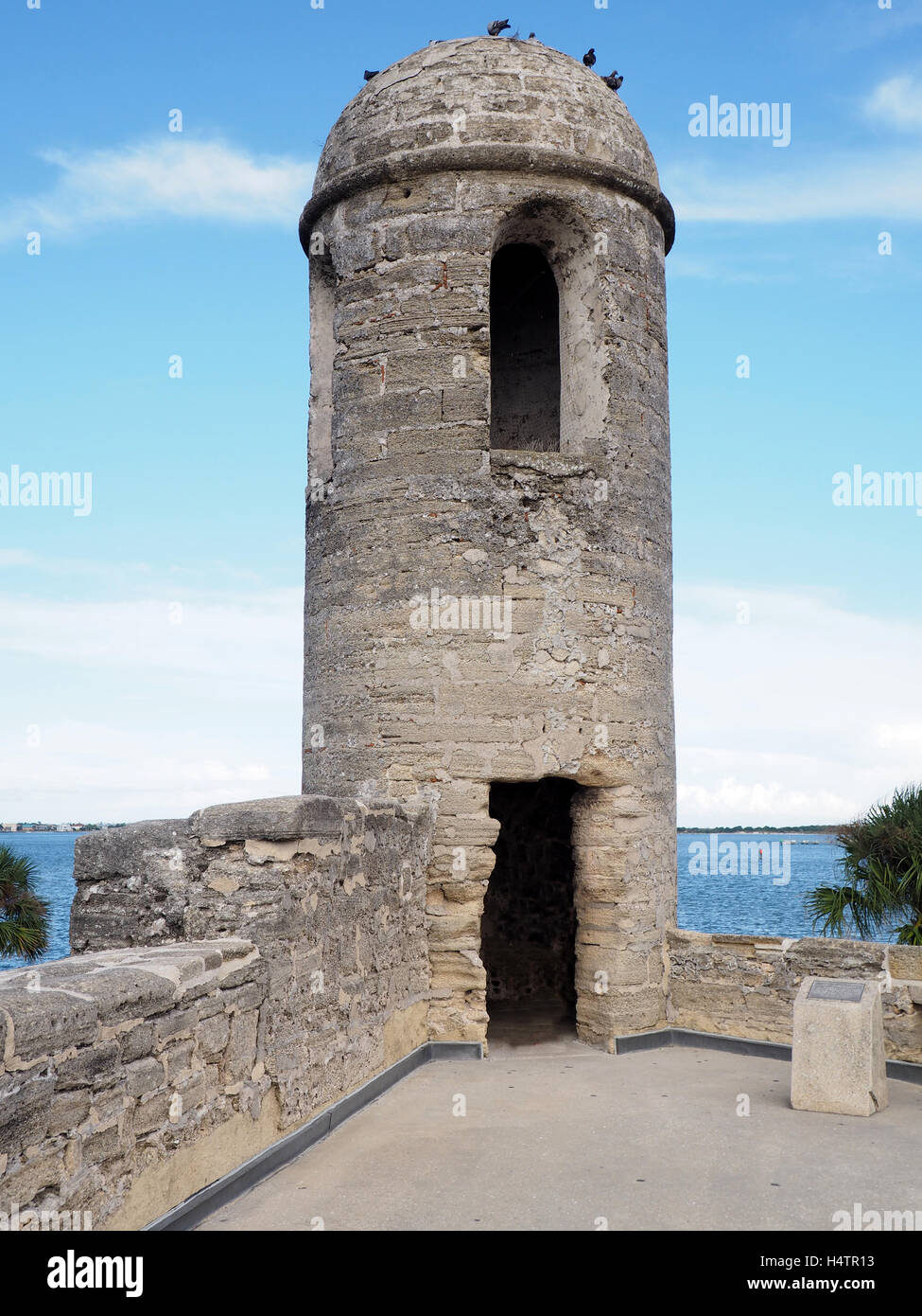 belltower at Castillo de San Marcos in St. Augustine Florida.  The fort is the oldest masonry fort in the United - Stock Image