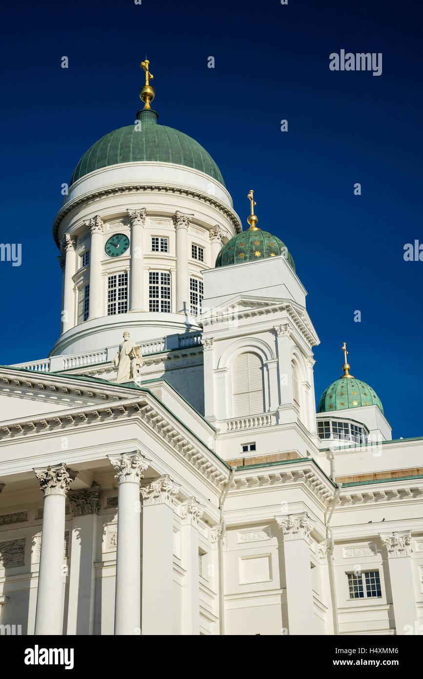 Helsinki city cathedral landmark in senate square finland - Stock Image