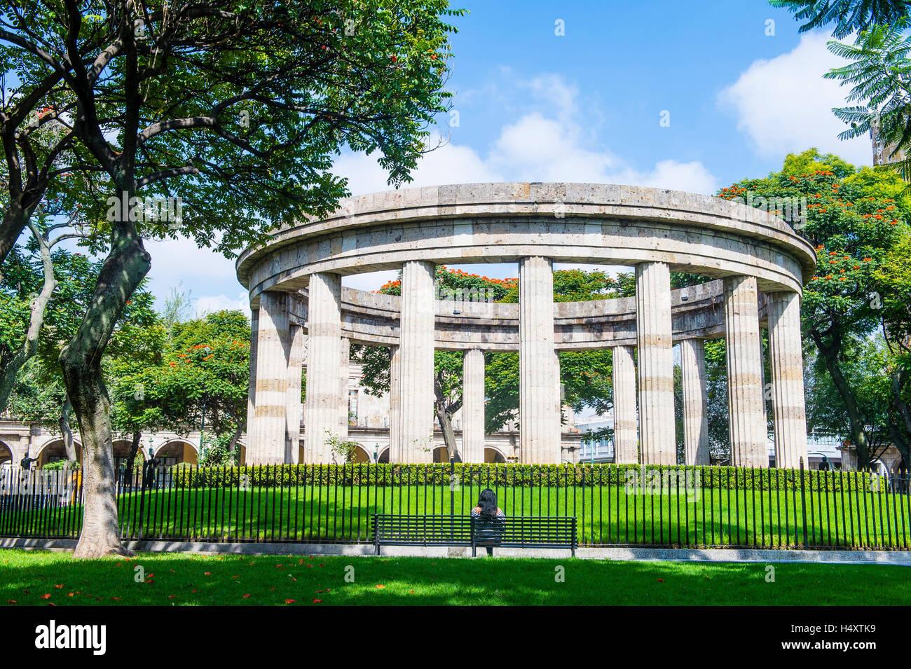 GUADALAJARA , MEXICO - AUG 29 : The Rotonda de los Jaliscienses Ilustres in Guadalajara Mexico on August 29 2016. - Stock Image