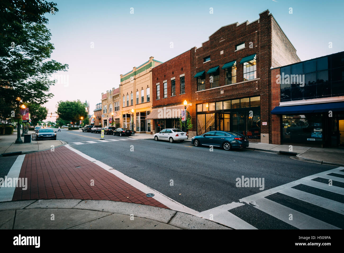 intersection along main street in downtown rock hill. Black Bedroom Furniture Sets. Home Design Ideas