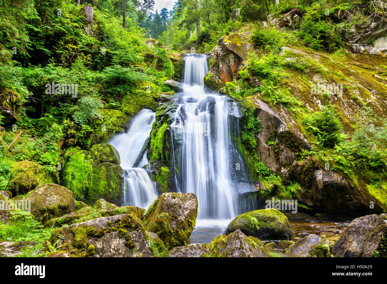 Triberg Falls, one of the highest waterfalls in Germany - Stock Image