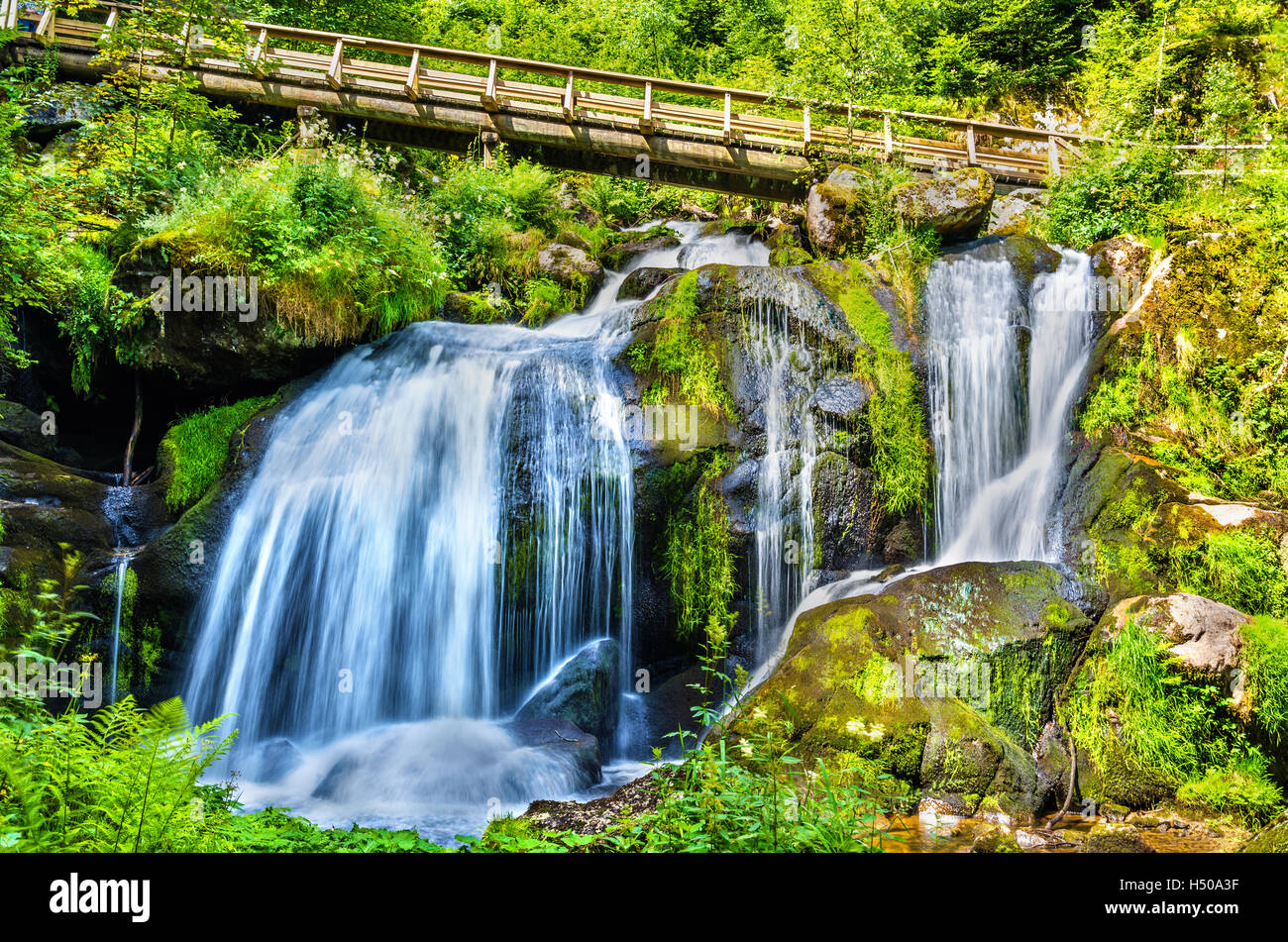Triberg Falls, one of the highest waterfalls in Germany - the Black Forest region Stock Photo