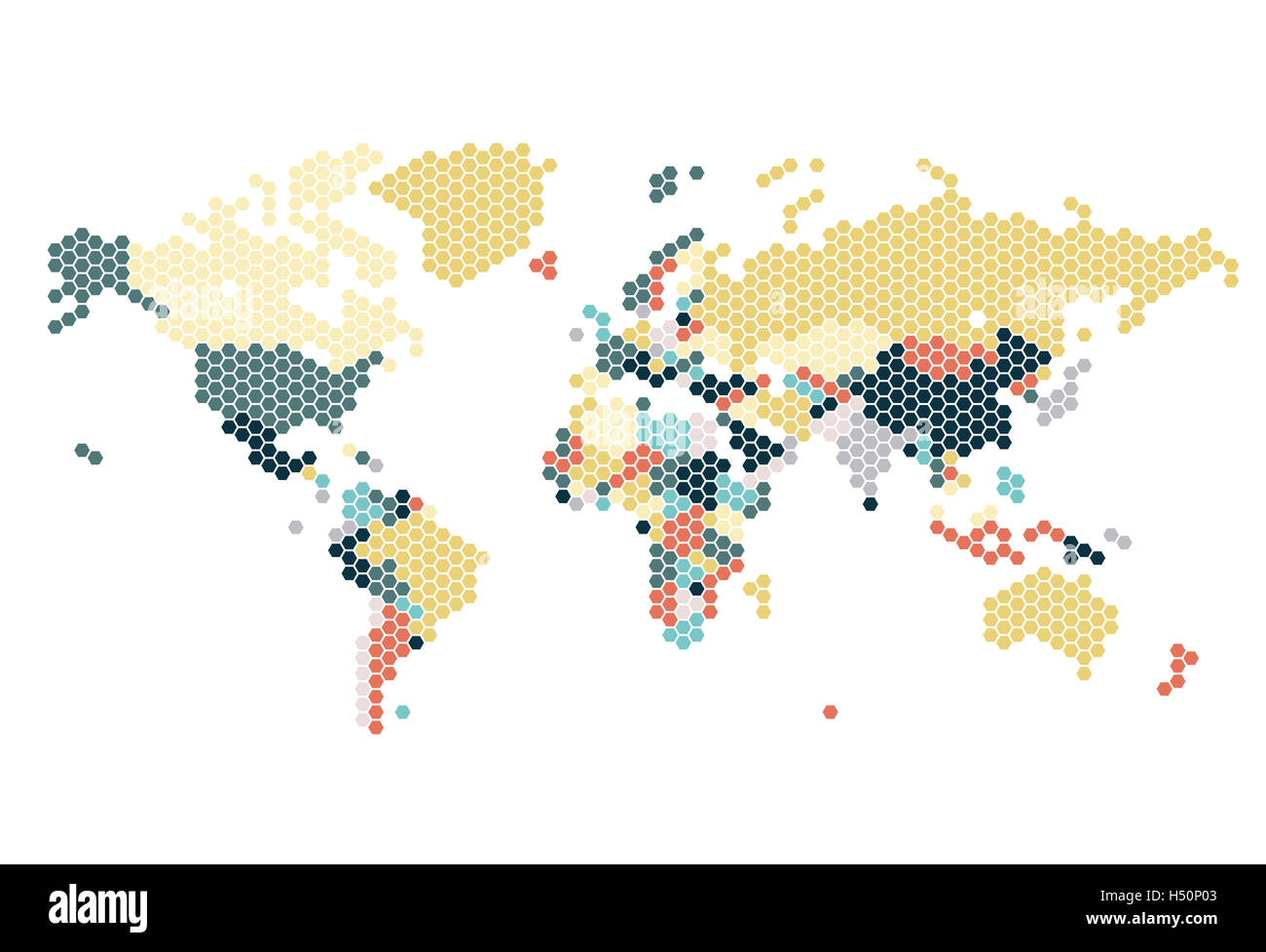 Dotted world map of hexagonal dots on white background stock photo dotted world map of hexagonal dots on white background gumiabroncs