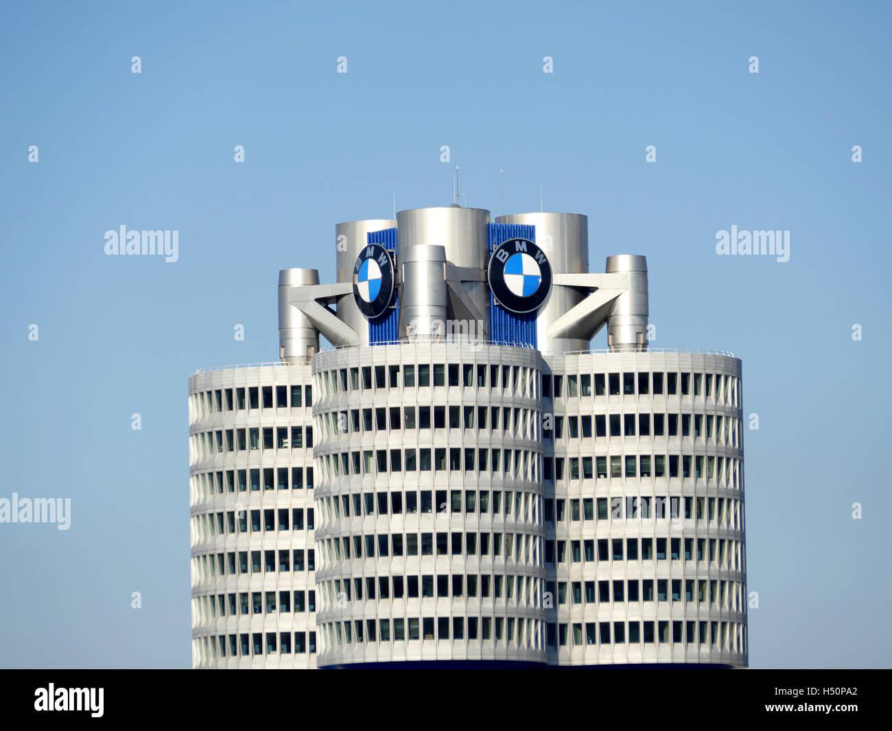Munich BMW Museum building Germany Europe Stock Photo