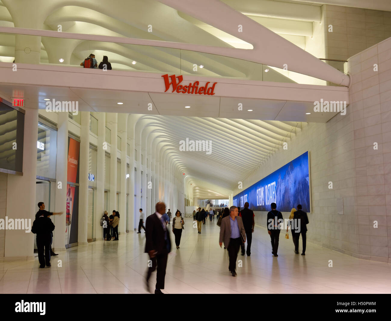 Westfield path in the south of Manhattan Stock Photo