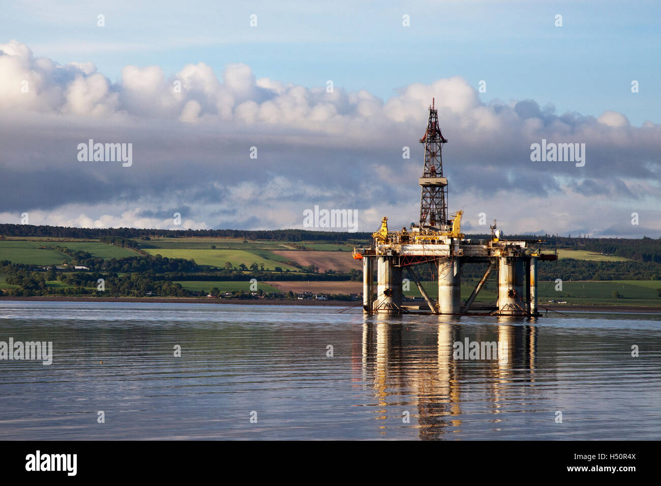 GSF ARCTIC II, Artic, Oil Rig platform vessel in Cromarty Firth, port of Invergordon, Scotland - Stock Image