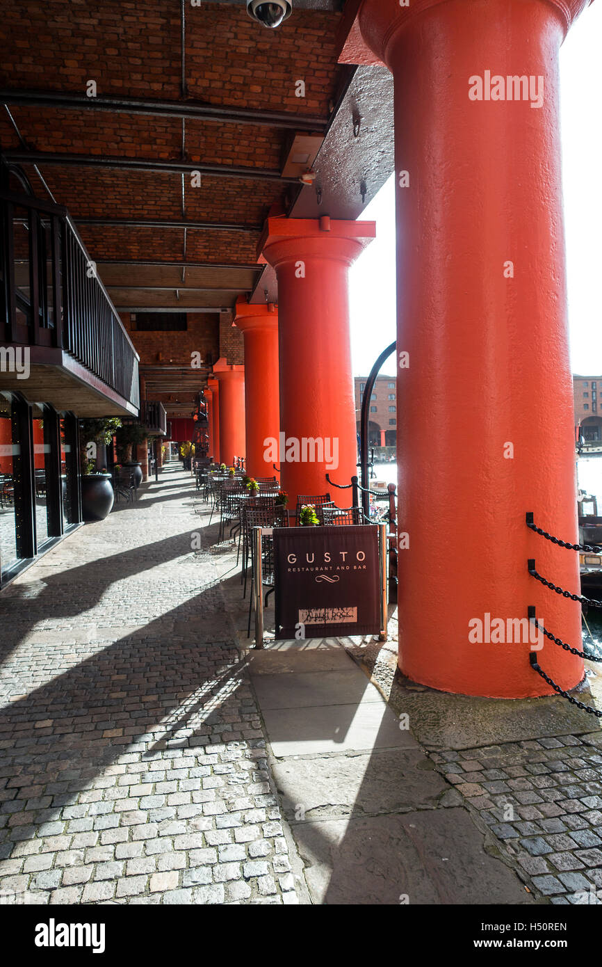 The Albert Dock Complex in the Historic Liverpool Waterfront Merseyside England United Kingdom UK Stock Photo