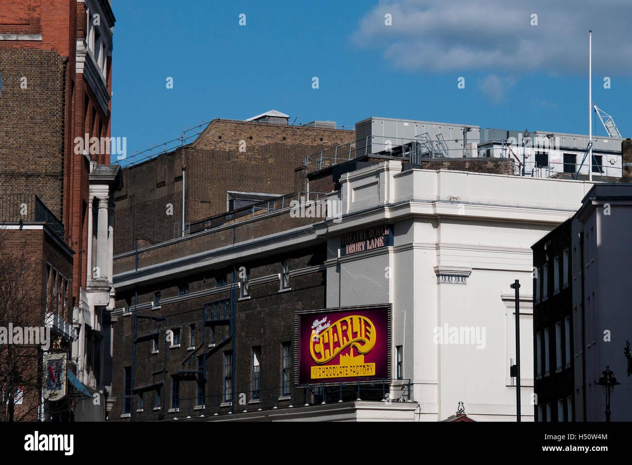 Theatre Royal Drury Lane, London. - Stock Image
