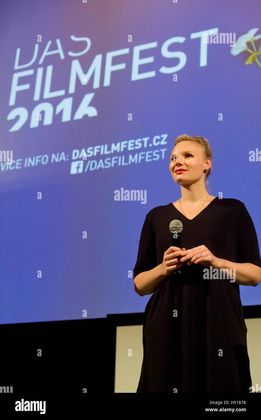 Prague, Czech Republic. 19th Oct, 2016. Das Filmfest festival of German speaking films starts with screenings of - Stock Image