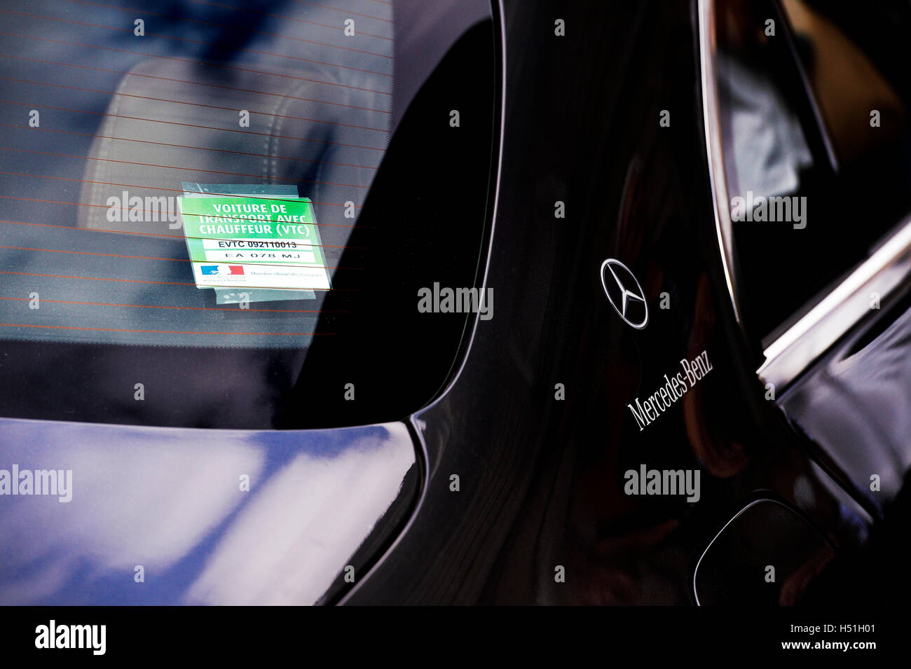 VTC driver licence in Paris, France - Stock Image