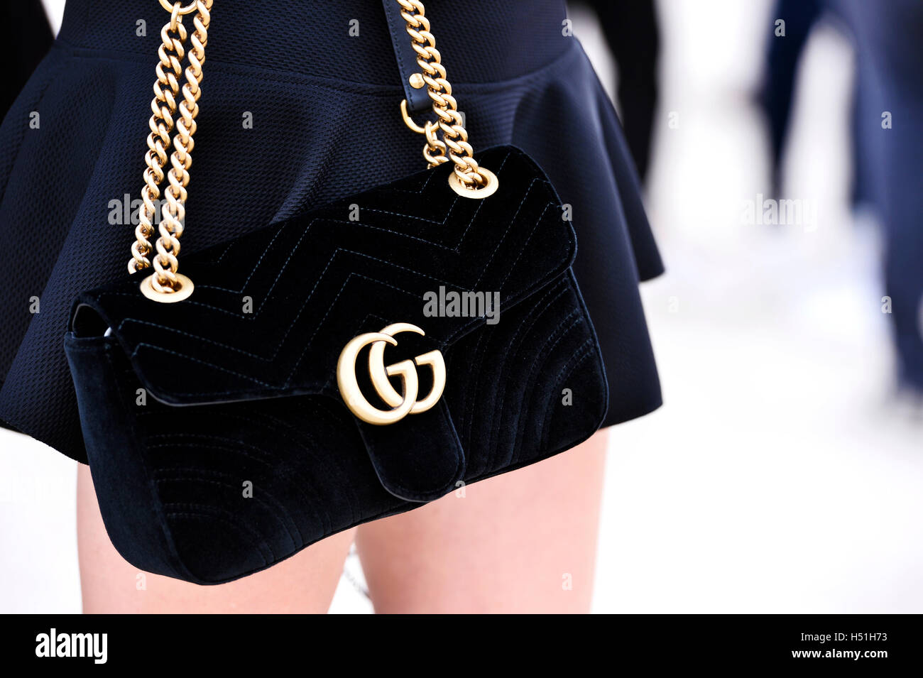 c57ebea6 Gucci bag at Paris Fashion Week 2016, RTW S/S 2017 Stock Photo ...